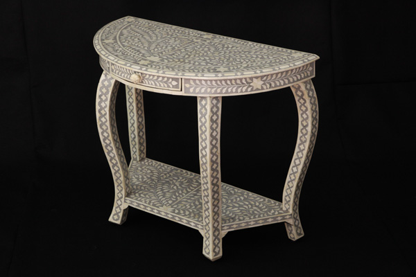 Bone Inlay Single Drawer Console Table