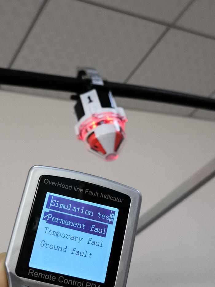 intelligent overhead line fault indicator for power distribution line