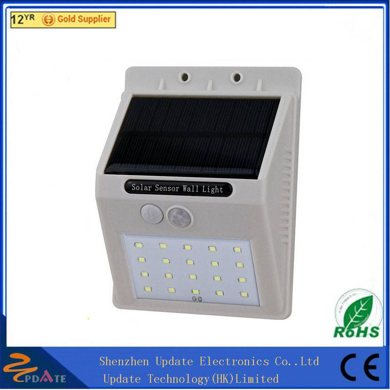 China wholesale wall mounted wireless solar motion light durable 20 LED solar wall lamp panel light