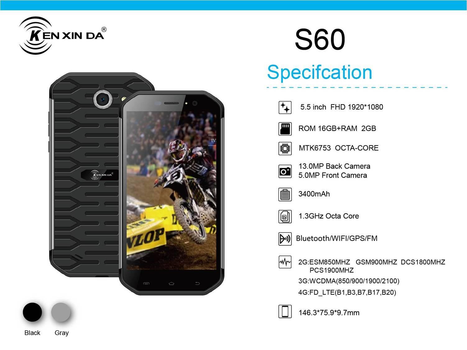 kenxinda 5.5'' tri-proofing G2 smart phone