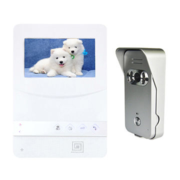 Access control system doorbell with HD color monitor, clear loud two way audio outdoor bell ring