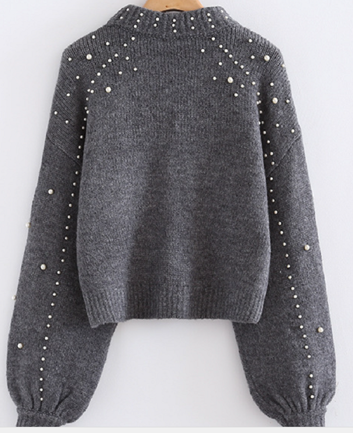 Fashino jumper with beading