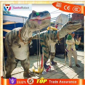 Well sold compelling adult sized visible/hidden legs flexible life size dinos velociraptor