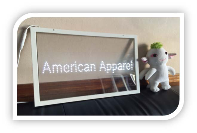 Single Color SMD3528 Glass Transparent LED Sign Board Indoor Advertising Customized