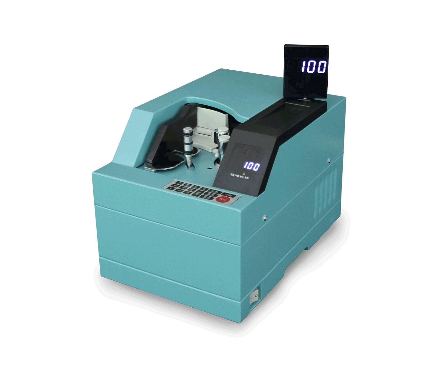 FDJ-100A Vacuum Money Counter with Semi-Automatic Dust Cover and UV