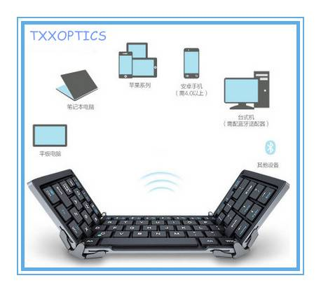 Foldable Bluetooth 3.0 Keyboard For iPad/iPhone/Tablet/Mobile