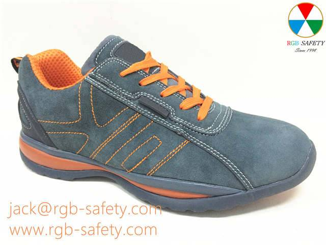 RGB Men's Safety Trainer -WORK Steel toecap shoes in Grey & Orange SF-061