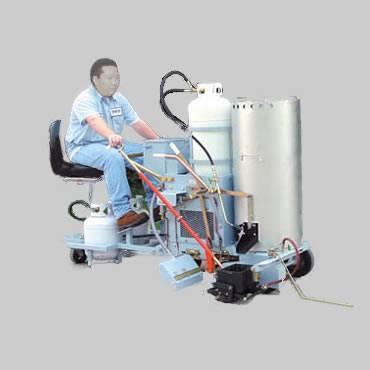 Self-propelled Sitting Thermoplastic Marking Machine