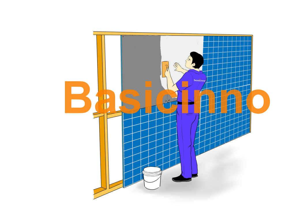 Waterproof XPS tile backer board made of XPS board+cement&fiberglass mesh, for wetrooms, floor and w