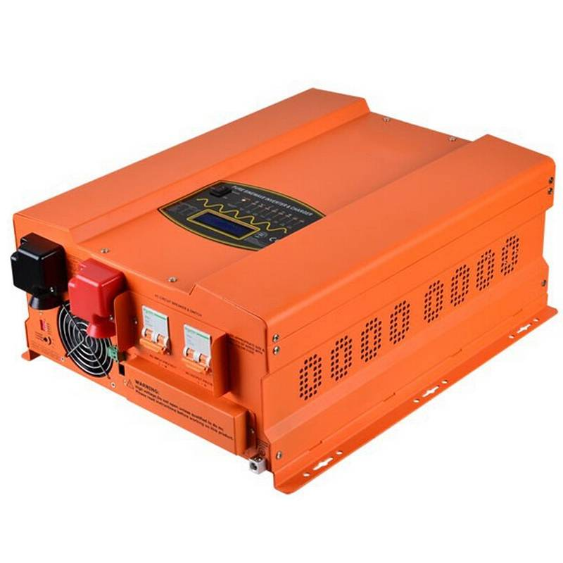 1500W 12V 110V 220VAC Off Grid Solar Power Inverter with Battery Charger, 90A Charging Current, Auto