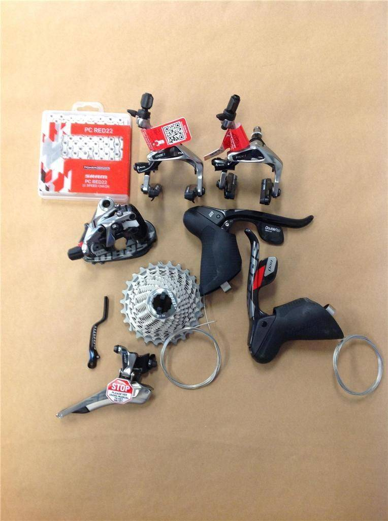 New Sram Red 22 4pcs Groupset Road Complete group cables housing