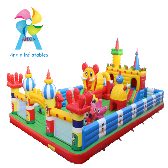 interesting inflatable kids castles/inflatable bouncer bounce castle playgrounds with slide in Mall/