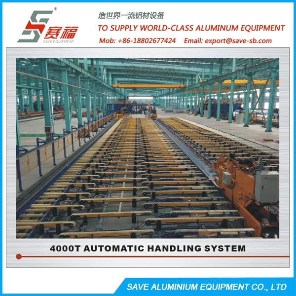aluminium extrusion belt type handling table and cooling area