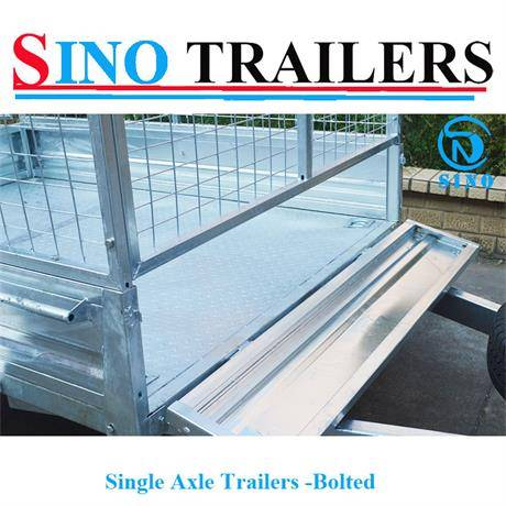 Stainless Steel Single Axle Bolted Cage Trailers