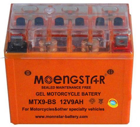 Ytx9-BS Ms Maintenance-Free Super Gel Motorcycle Battery