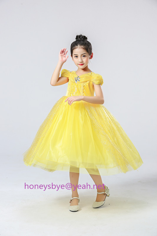 Costumes Bell Dress Christmas Party Children Clothes Kids Dress Up