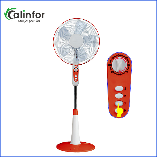 Calinfor good quality ABS smart red stand fan