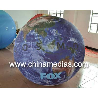 1.5m Giant Full Digital Printed Earth Balloons Globe with Good Elastic for Sporting events
