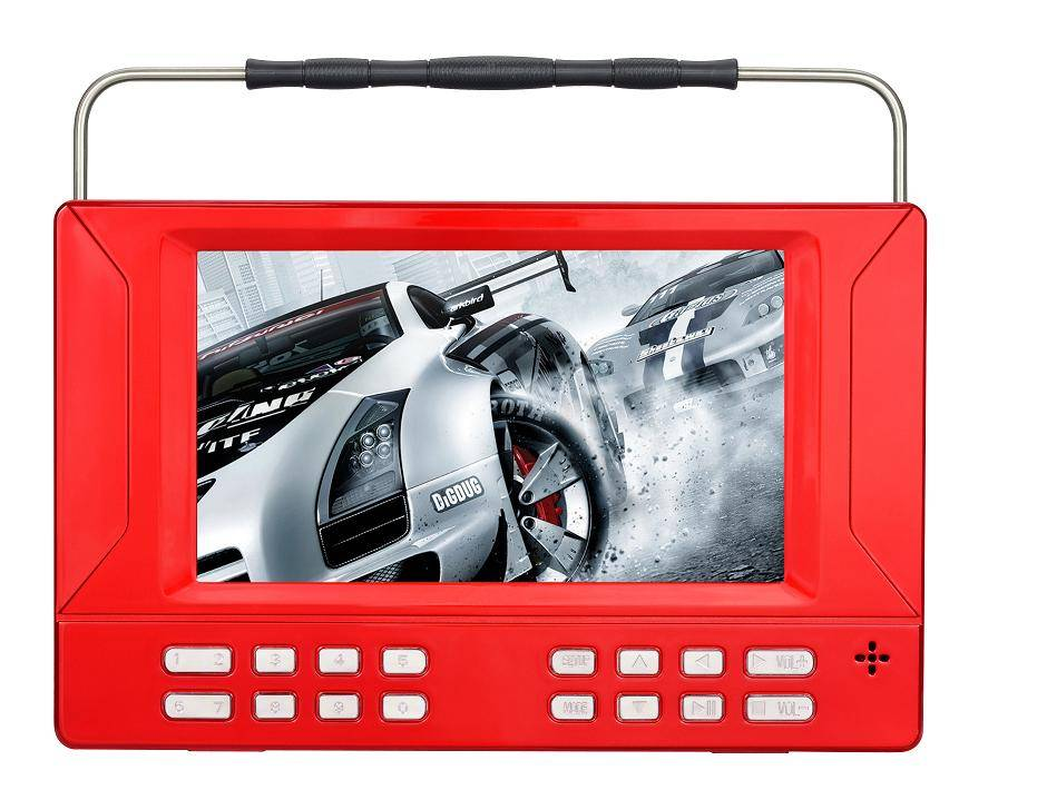 7-inch, 9-inch model no. KD-76 newest portable DVD player amplifier with one year warranty