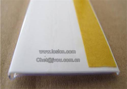 Adhesive strip PVC supermarket plastic price tag holder LC-4