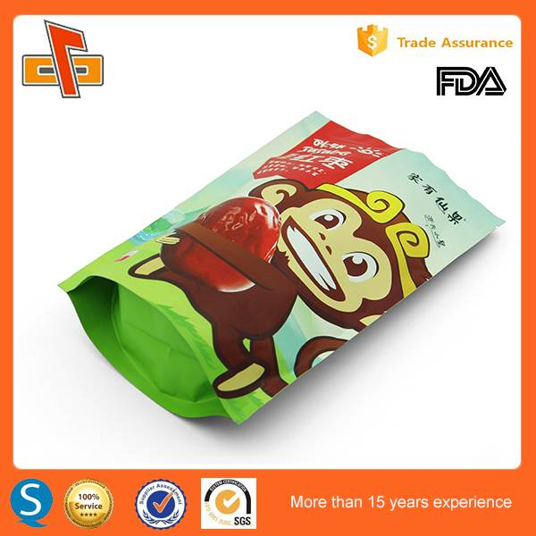 customized laminated stand up ziplock bag