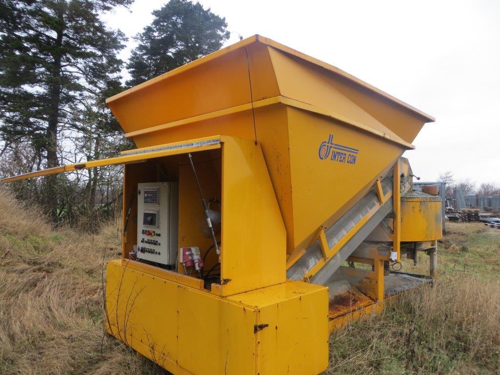 Used mobile concrete mixing plant INTERCON C15-1200