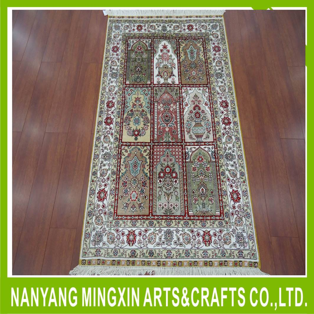 High End Pure Silk Turkish Handwoven Silk Floor Carpet