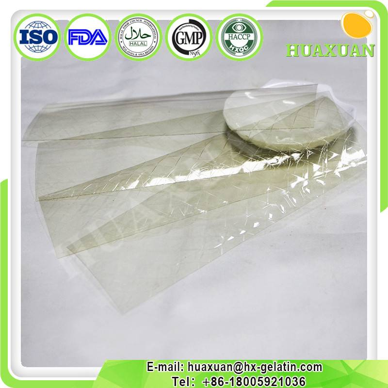 Halal edible Gelatin sheet factory for food additive
