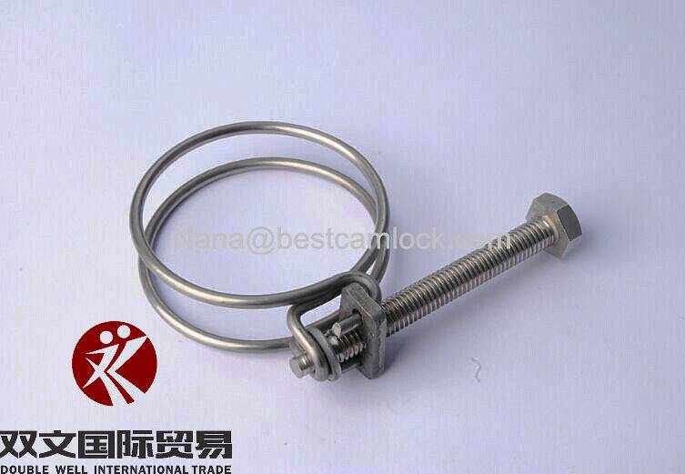 Stainless steel 304 double wire hose clamps factory price