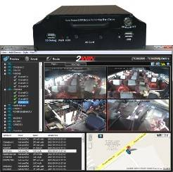 Cheapest 4ch HDD 3G GPS car video recorder TW-MB4107