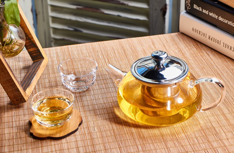 Loose Leaf Tea Cozy Glass Teapot with Removable Stainless Steel Infuser