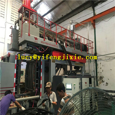 exported to abroad blow molding machinery install