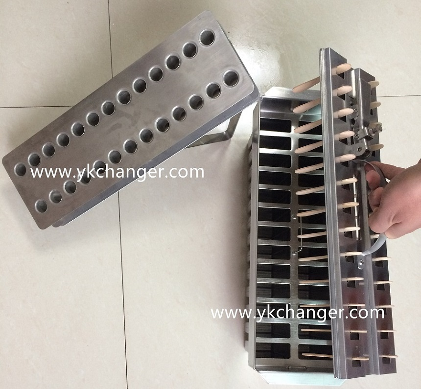 Stainless steel popsicle ice cream molds commercial use 2x13 26cavities ataforma type high quality
