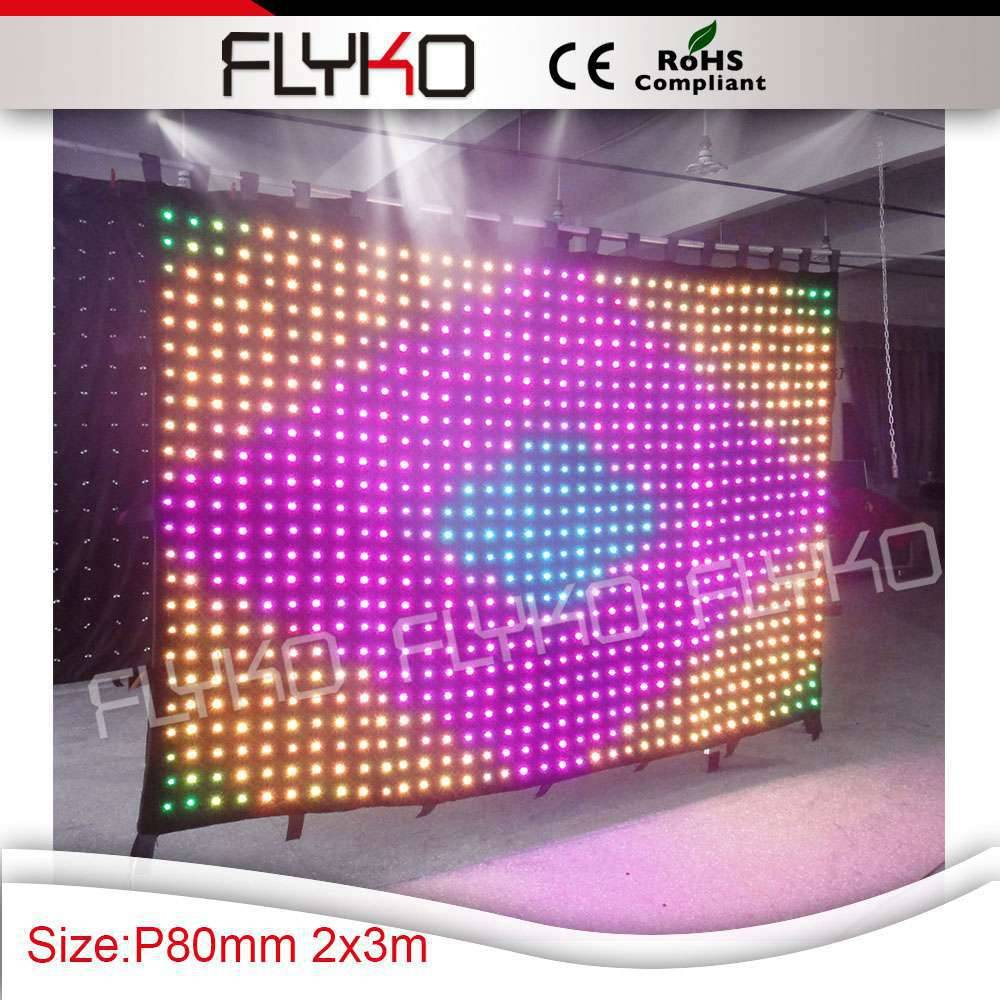 hight brightness led video curtain christmas decoration