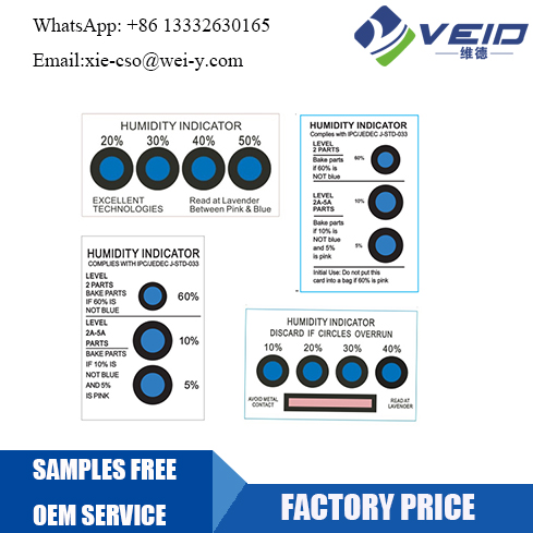 conventional humidity indicator card