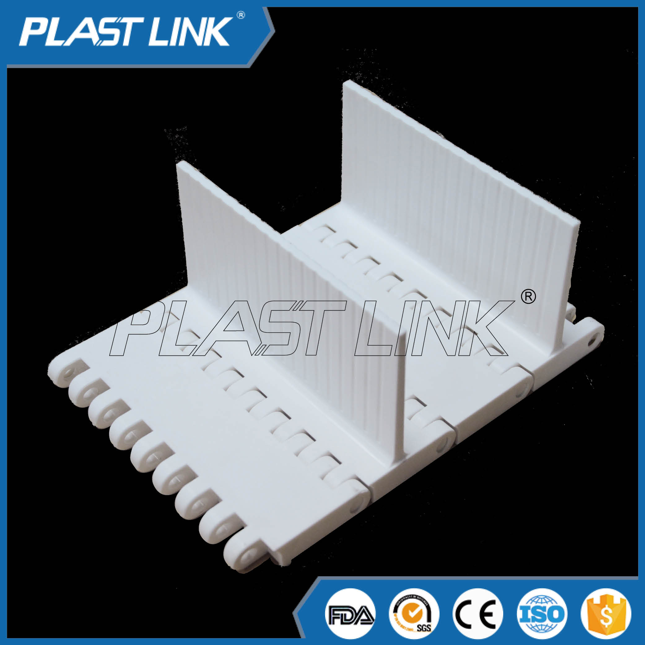 PlastLink OPB modular belt with base flight