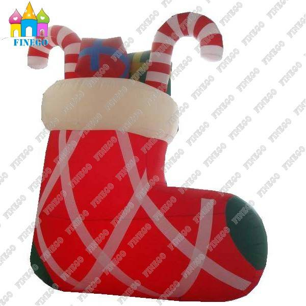 OEM Inflatable Christmas Sock Model for christmas Holiday