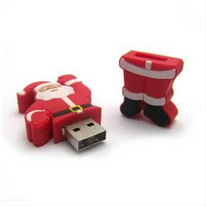 Hot promotion Santa Claus PVC stylish USB flash drive