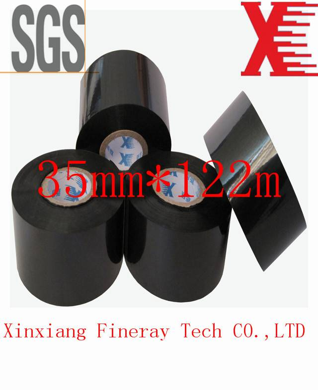 Fineray brand FC3 type 35mm*122m for Batch Coding used on labeling/coding machine Hot coding ribbon