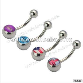 316L surgical stainless steel Belly Navel Ring from Dongguan