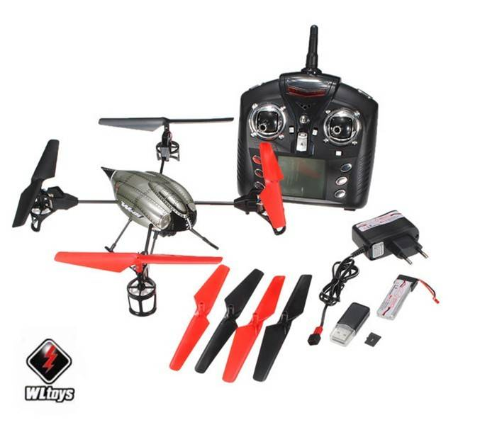 Wholesale Wltoys V959# 2.4G 4-Axis 4CH RC Quadcopter UFO with Onboard Camera, Lights and Gyro
