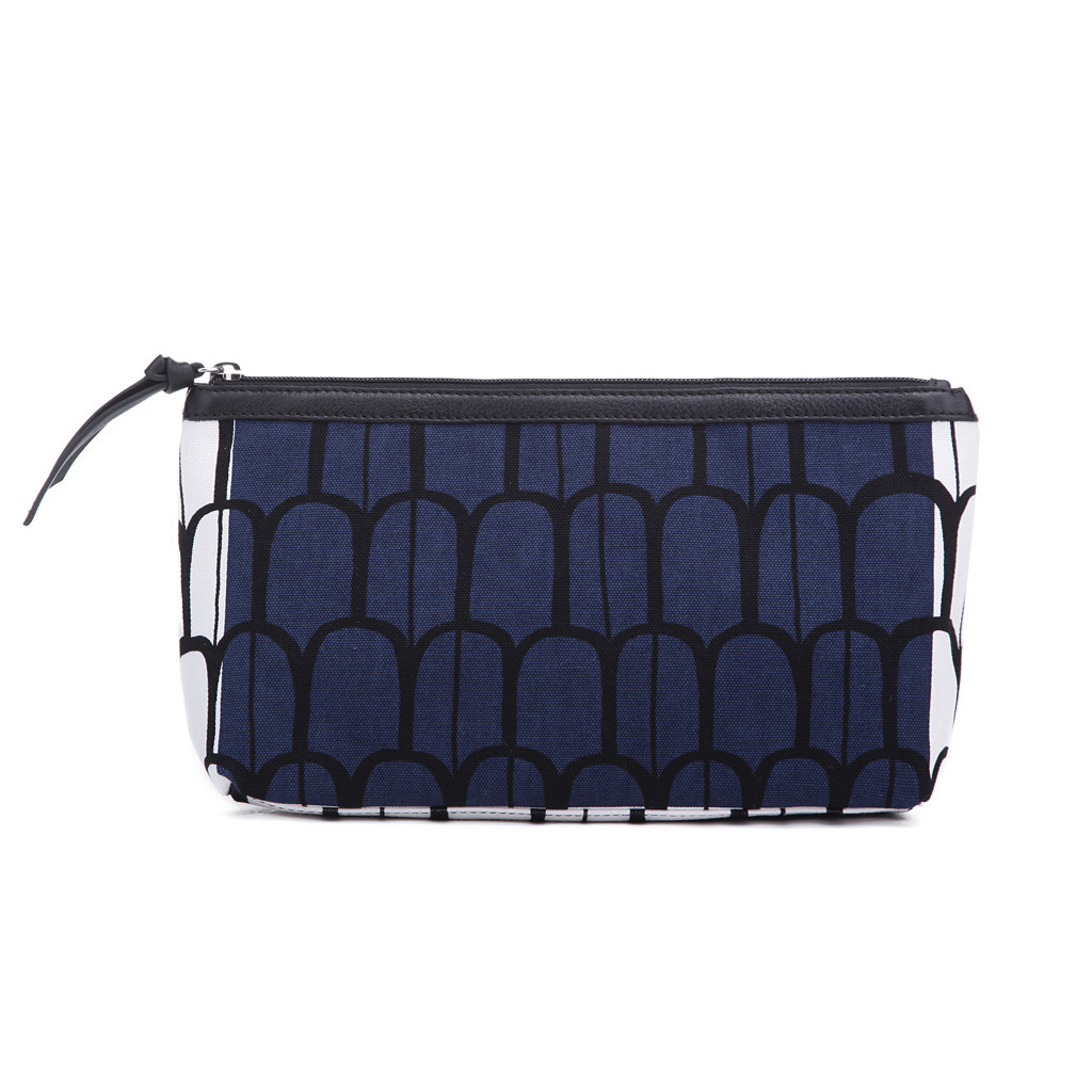Silk cosmetic bag with double layers fxsdl03