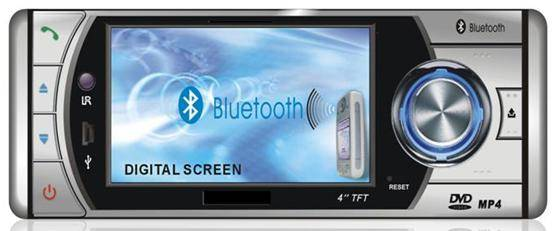 4.0-inch car DVD player Touch Screenwith AM/FM/RDS/TV/USB/Divx/Bluetooth/iPod control