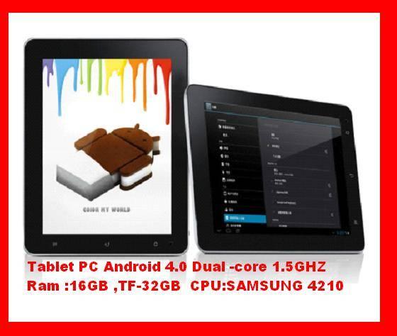 "Tecno Tablet PC 9.7"" Dual Core 1.5GHz 16GB RAM TF-32GB"