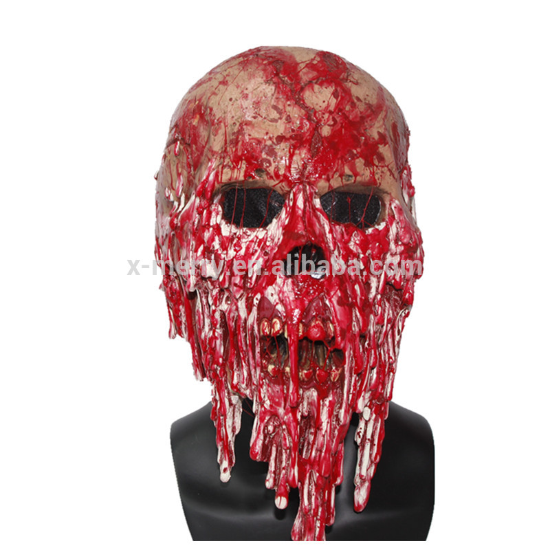 X-MERRY TOY Full Head Bloody Creepy Mask Horror Costume Party Props x14075