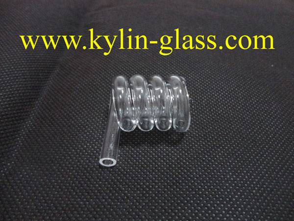 spiral glass tube/helical glass tube