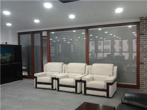 office Partition with Inserted Motorzied Venetian Blinds Insert Insulated Tempered Glass