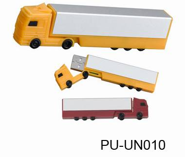Promotional 8GB Custom Metal 3D Bus USB Flash Drive