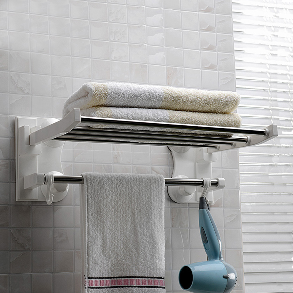Wall Mounted Plastic Bathroom Towel Holder Racks