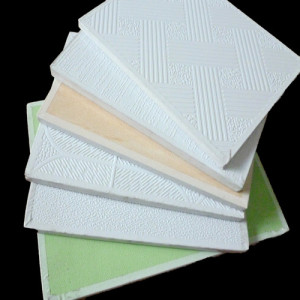 PVC laminated gypsum ceiling board/PVC gypsum ceiling tiles